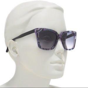ETRO Purple Paisley Sunglasses NWOT